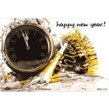 Happy New Year Clock Recall Cards