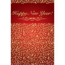 Happy New Year Sparkles Recall Cards