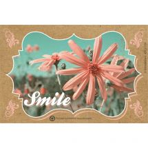 Smile Floral Recycled Recall Cards