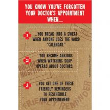 Forgotten Dr. Appointment Recall Cards