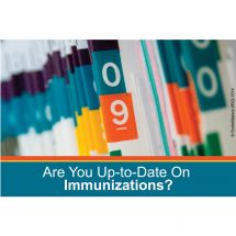 Up To Date Immunizations Recall Card