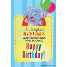 Happy Birthday Elephant Recall Cards