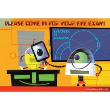 Robot Eye Exam Recall Cards