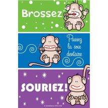 French Monkey Colour Strip Recall Cards