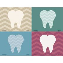 Assorted Chevron Tooth Laser Recall Cards