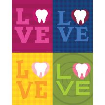 Assorted Love Tooth Laser Recall Cards