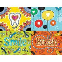 Assorted Dental Doodles Laser Cards