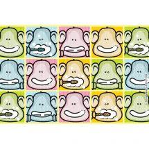 Brush, Floss, Smile Monkey Pop Art Recall Cards