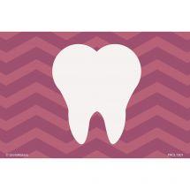 Purple Chevron Tooth Recall Cards