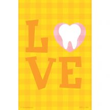 Checkered Love Tooth Recall Cards