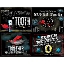 Assorted Super Tooth Laser Recall Cards