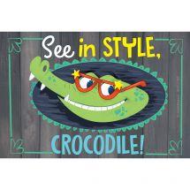 Custom Stylish Crocodile Vision Recall Cards