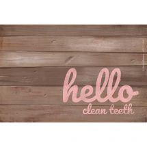 Custom Rustic Hello Dental Recall Cards