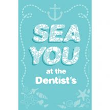 Custom Sea You at the Dentist Recall Cards