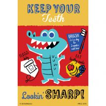 Custom Keep Teeth Sharp Recall Cards