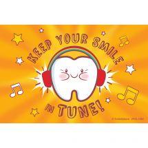 Custom Keep Smile In Tune Recall Cards