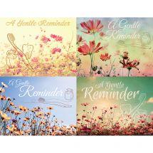 Assorted Laser Gentle Reminder Flowers Recall Cards