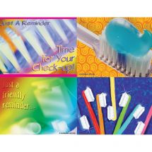 Asst. Bright Toothbrush Laser Cards