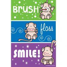 Monkey Colour Stripe Recall Cards