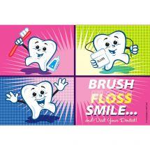 Cartoon Tooth Block Recall Cards