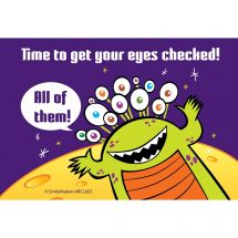 Alien Eyes Checked Recall Cards