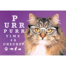 Purring Cat Eye CheckUp Recall Cards