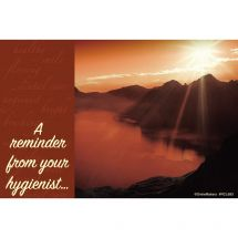 Hygienist Sunset View Recall Cards
