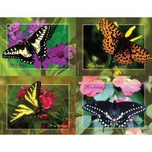 Butterflies Laser Cards