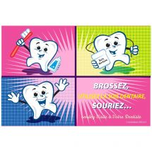 French Cartoon Tooth Blocks Recall Cards