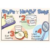 Steps to a Healthy Smile Recall Cards