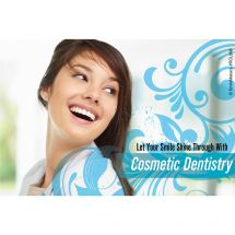 Cosmetic Dentristy Blue Swirls Recall Cards