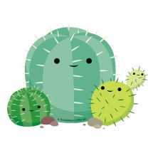 Cute Cactus Re-stickable Stickers