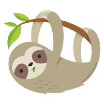 Sloth Re-stickable Stickers