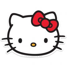 Hello Kitty Face Re-stickable Stickers