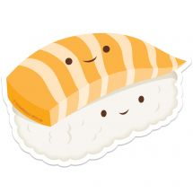 Sushi Re-stickable Stickers