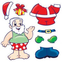 Make-Your-Own Santa Stickers