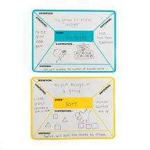 Four Square Magnetic Dry Erase Sheets