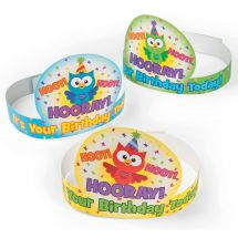 Birthday Owl Crowns