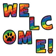 Welcome Paw Print Letters