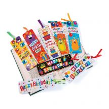 Laminated Birthday Bookmarks