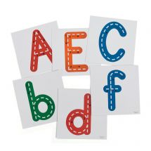 Large Dry Erase Traceable Letters