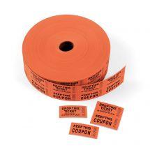Orange Double Roll Tickets