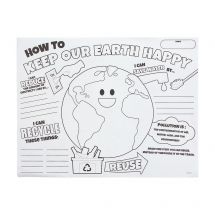 Colour Your Own Earth Day Posters