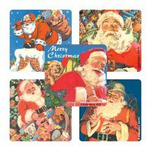 Classic Santa Stickers