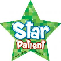 Shaped Star Patient Stickers