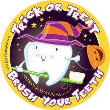 Trick or Treat - Brush Your Teeth Stickers