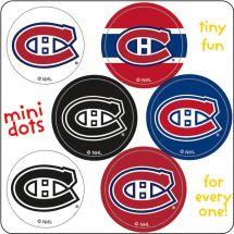 NHL Mini Dot Stickers