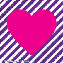 Valentine's Patterned Hearts Sticker