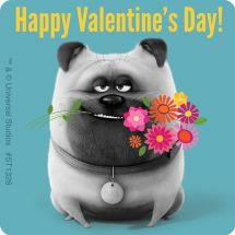 Secret Life of Pets Valentine Sticke