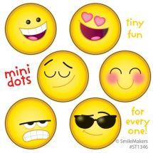 Emoji Mini Dot Stickers